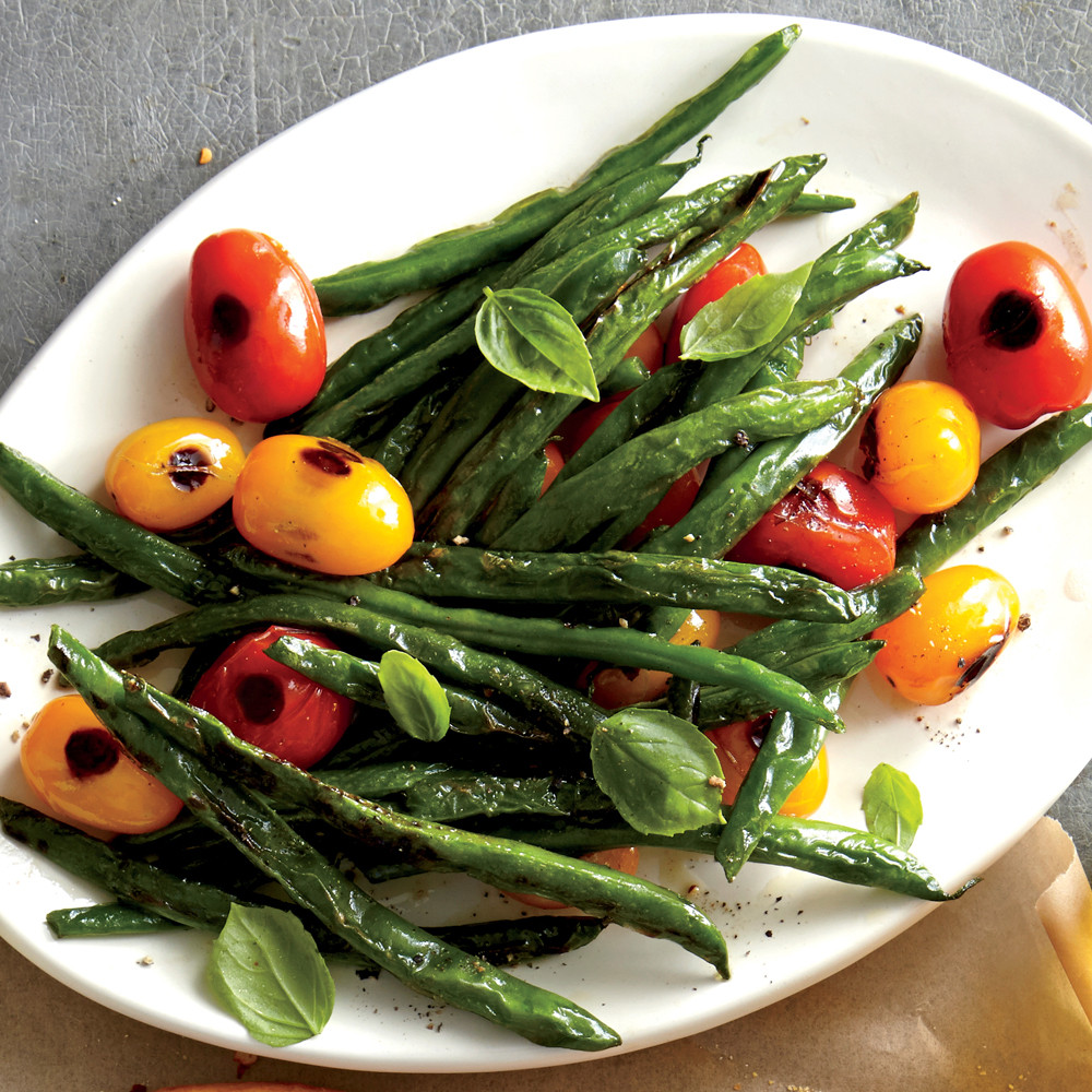 Beans Greens Tomatoes  Blistered Green Beans and Tomatoes Recipe