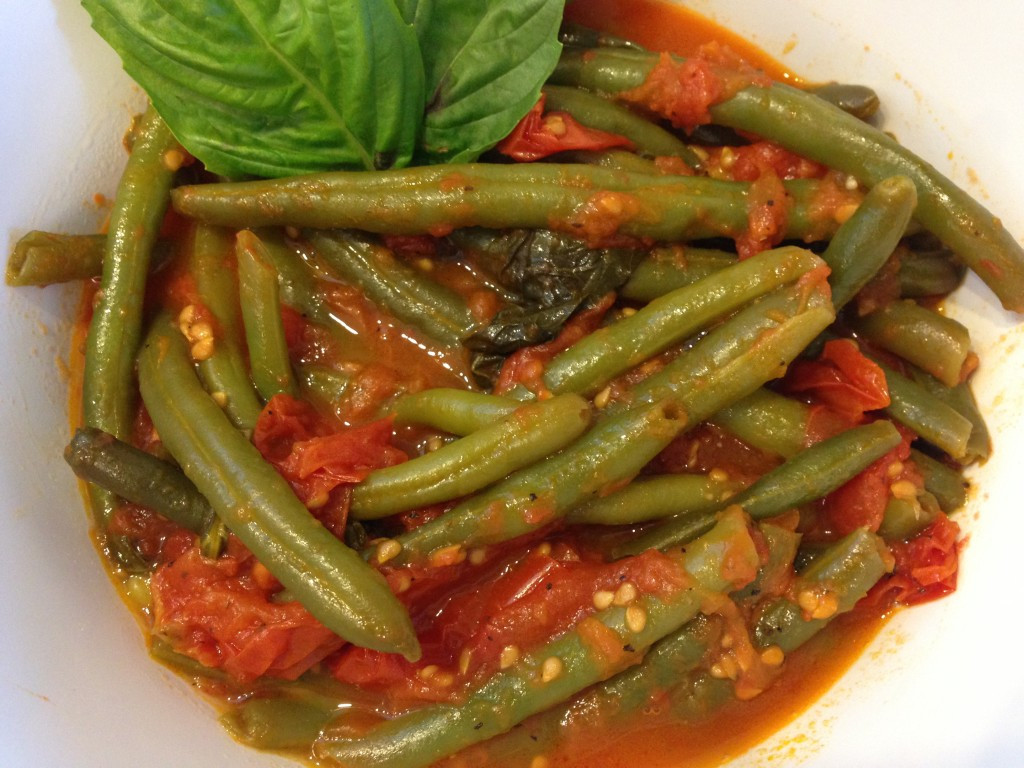 Beans Greens Tomatoes  Sauteed Green Beans with Fresh Tomatoes