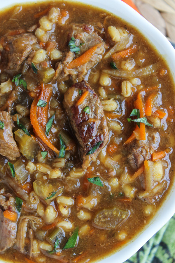 Beef And Barley Soup Recipe  Beef Barley Soup Slow Cooker The Food Charlatan