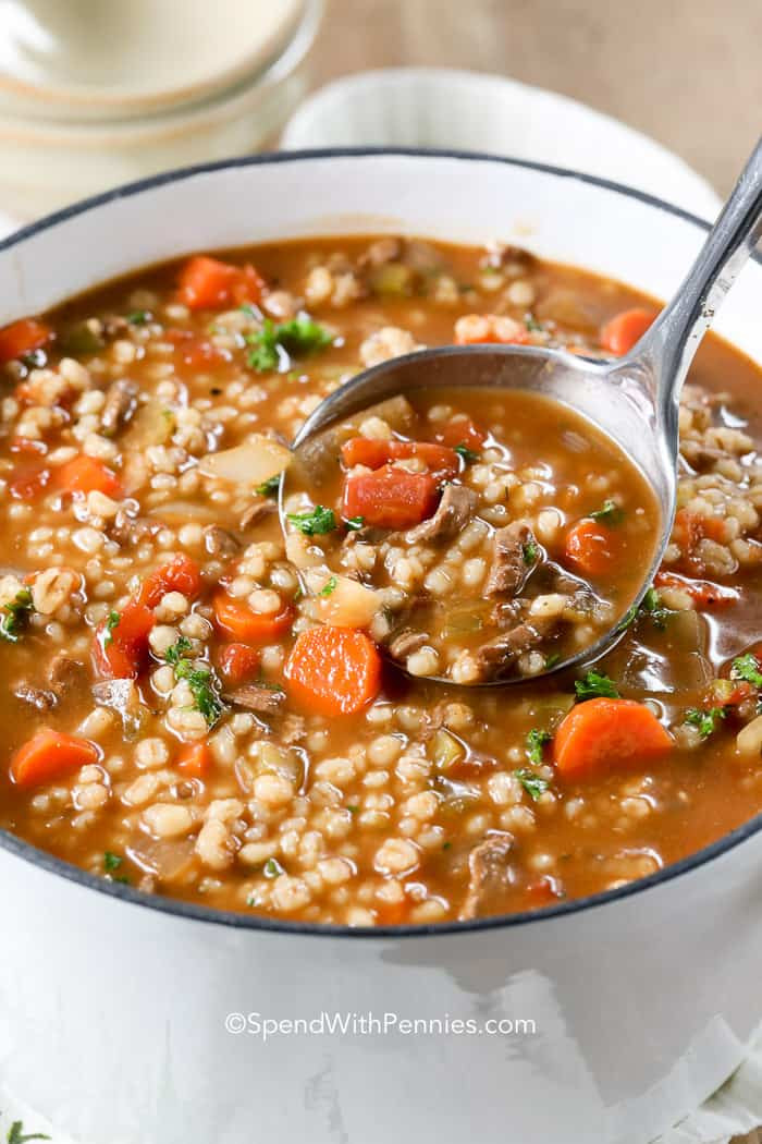 Beef And Barley Soup Recipe  Beef Barley Soup Spend With Pennies
