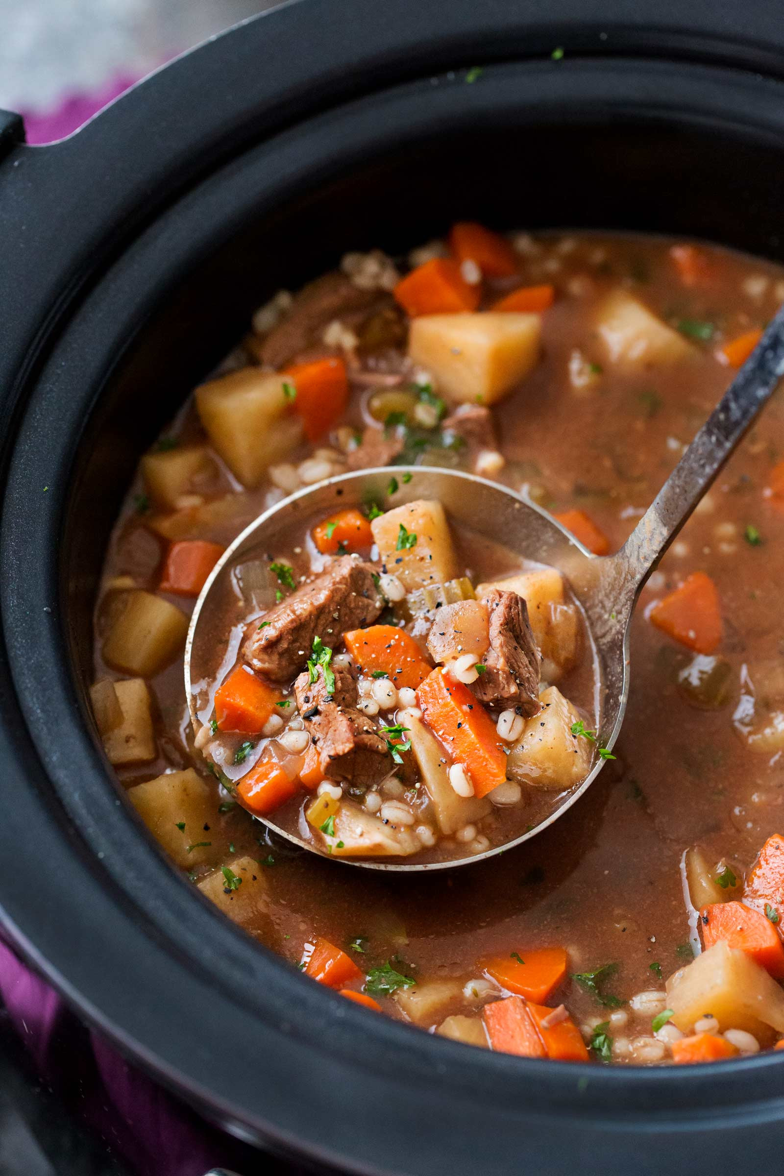 Beef And Barley Soup Recipe  Slow Cooker Beef Barley Soup Recipe The Chunky Chef