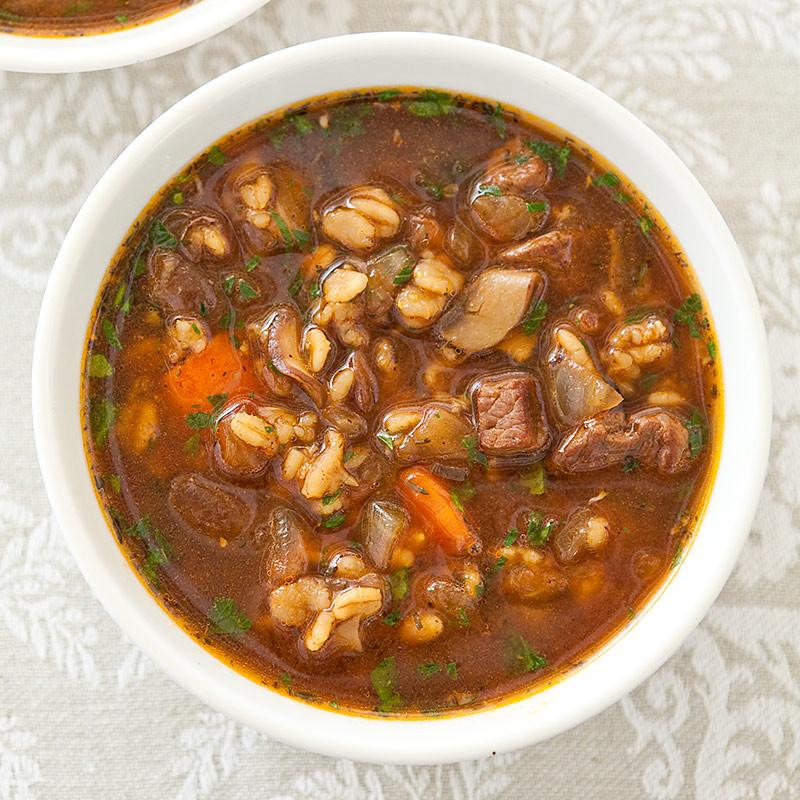 Beef And Barley Soup  Beef and Barley Soup for Two