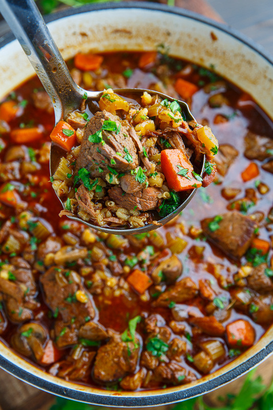 Beef And Barley Soup  Beef and Barley Soup Recipe on Closet Cooking