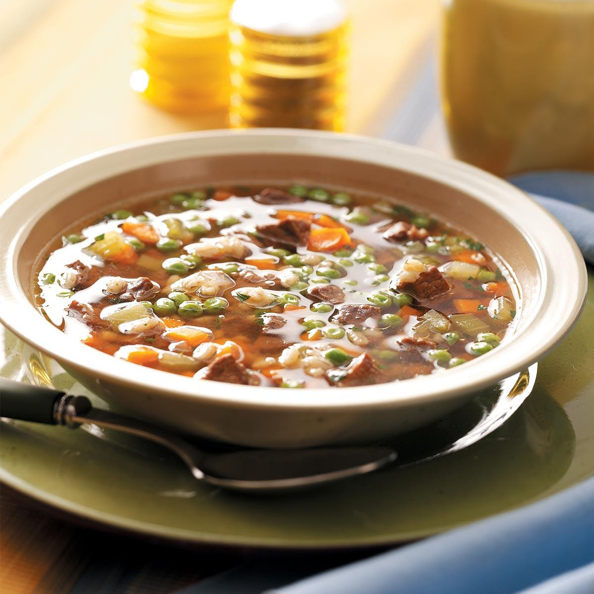 Beef And Barley Soup  Hearty Beef and Barley Soup Recipe