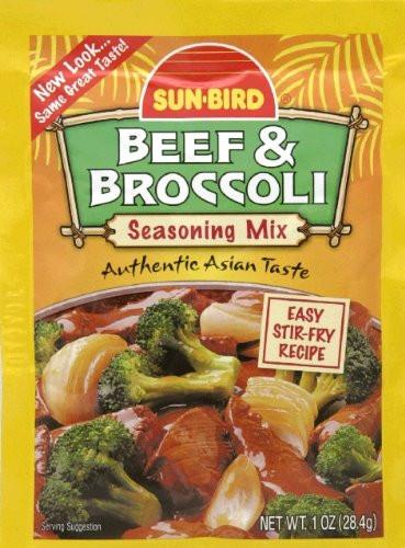 Beef And Broccoli Sauce Mix  Sun Bird TERIYAKI MARINADE Asian Seasoning Mix 1 25oz 4
