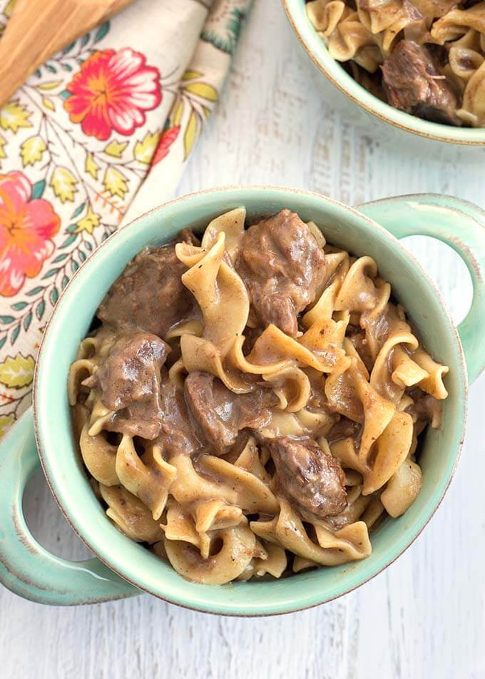 Beef And Egg Noodles  Instant Pot Beef and Noodles