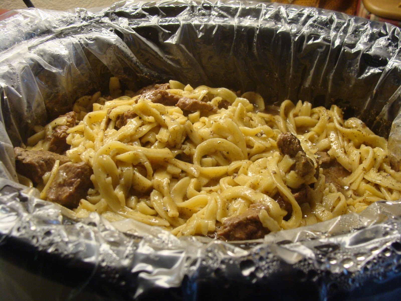 Beef And Egg Noodles  Kristi s Recipe Box Crockpot Beef and Noodles