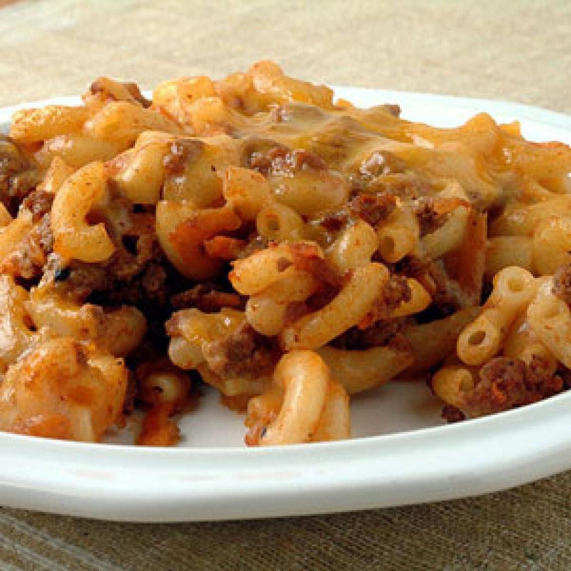 Beef And Noodle Casserole  Beef Cheese and Noodle Bake Recipe