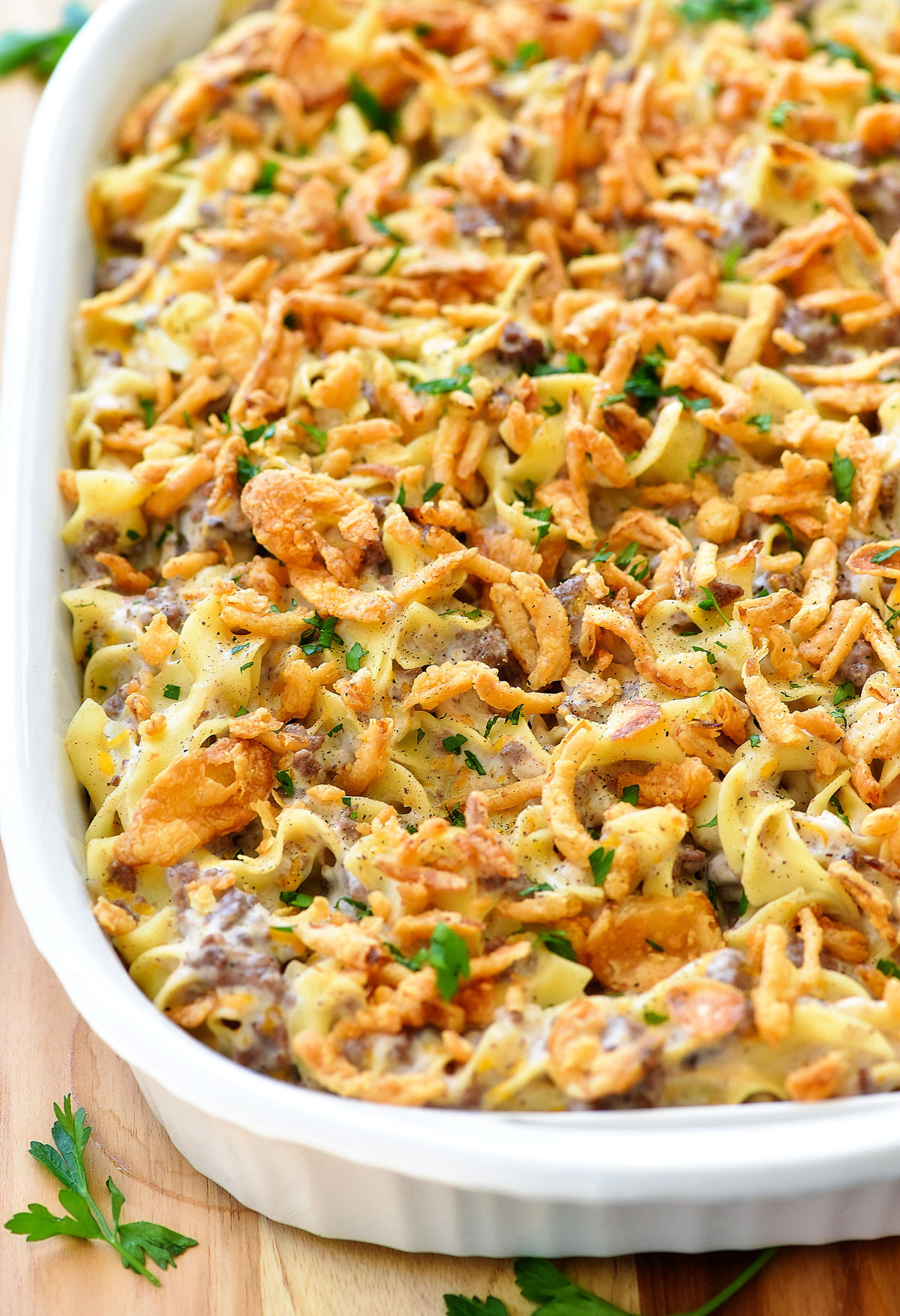 Beef And Noodle Casserole  French ion Beef Casserole Life In The Lofthouse