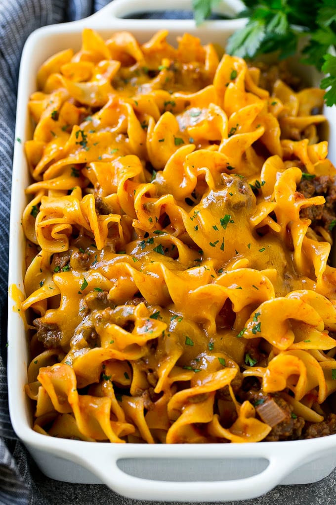 Beef And Noodle Casserole  Beef Noodle Casserole Dinner at the Zoo