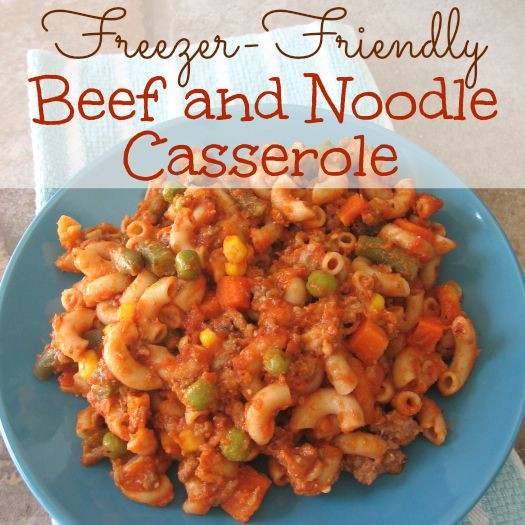 Beef And Noodle Casserole  Beef and Noodle Casserole Graceful Little Honey Bee