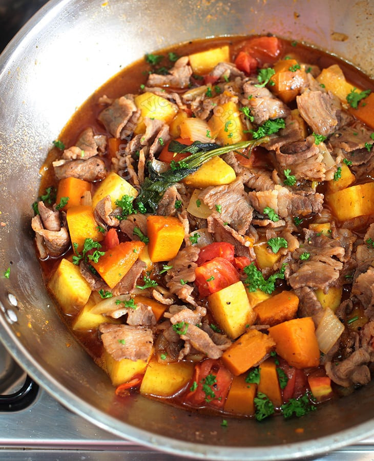 Beef And Potato Stew  Quick and Easy Beef Sweet Potato and Squash Stew