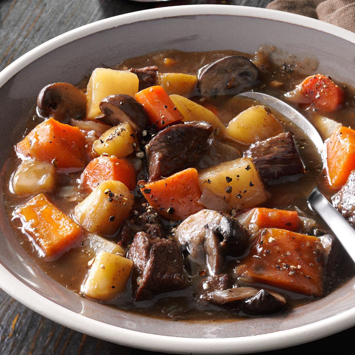 Beef And Potato Stew  Hearty Beef & Sweet Potato Stew Recipe