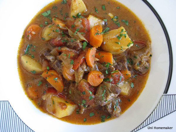 Beef And Potato Stew  paleo beef stew with sweet potatoes