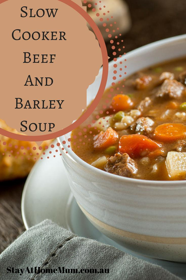 Beef Barley Soup Slow Cooker  Slow Cooker Beef and Barley Soup