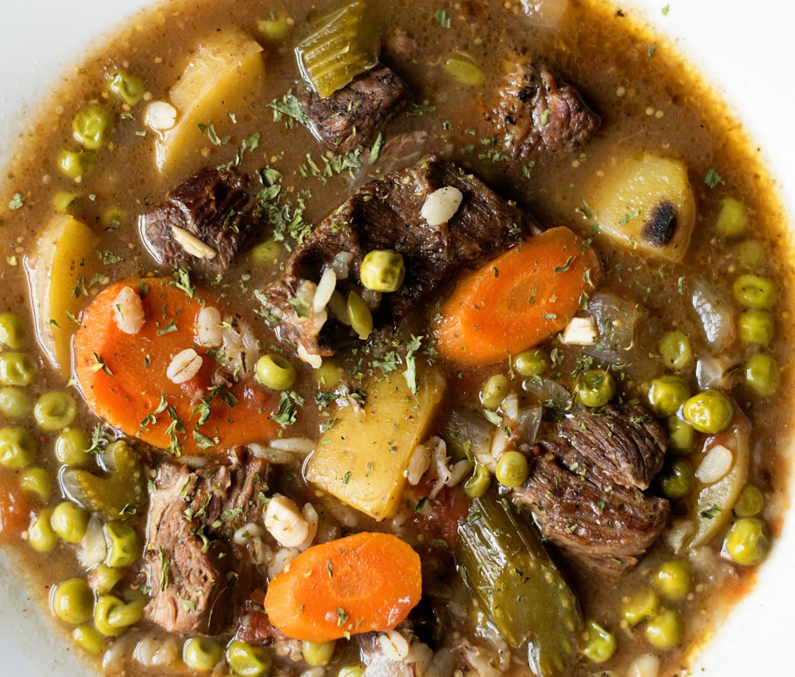 Beef Barley Stew  Perfect Crockpot Beef and Barley Stew The Kitchen Wife
