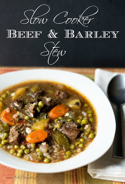 Beef Barley Stew  The Kitchen Wife Perfect Slow Cooker Beef and Barley Stew