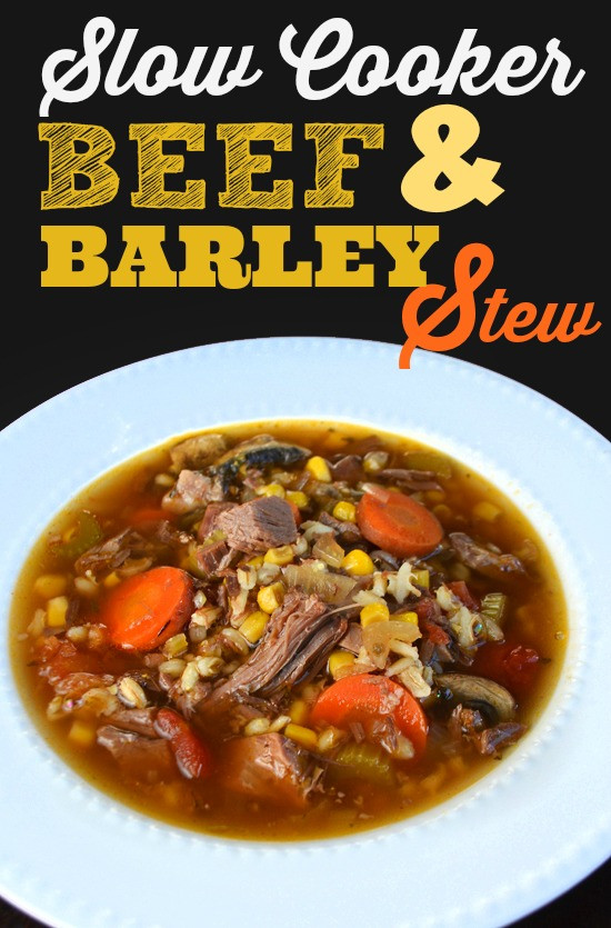 Beef Barley Stew  Slow Cooker Beef and Barley Soup recipe leftover pot roast