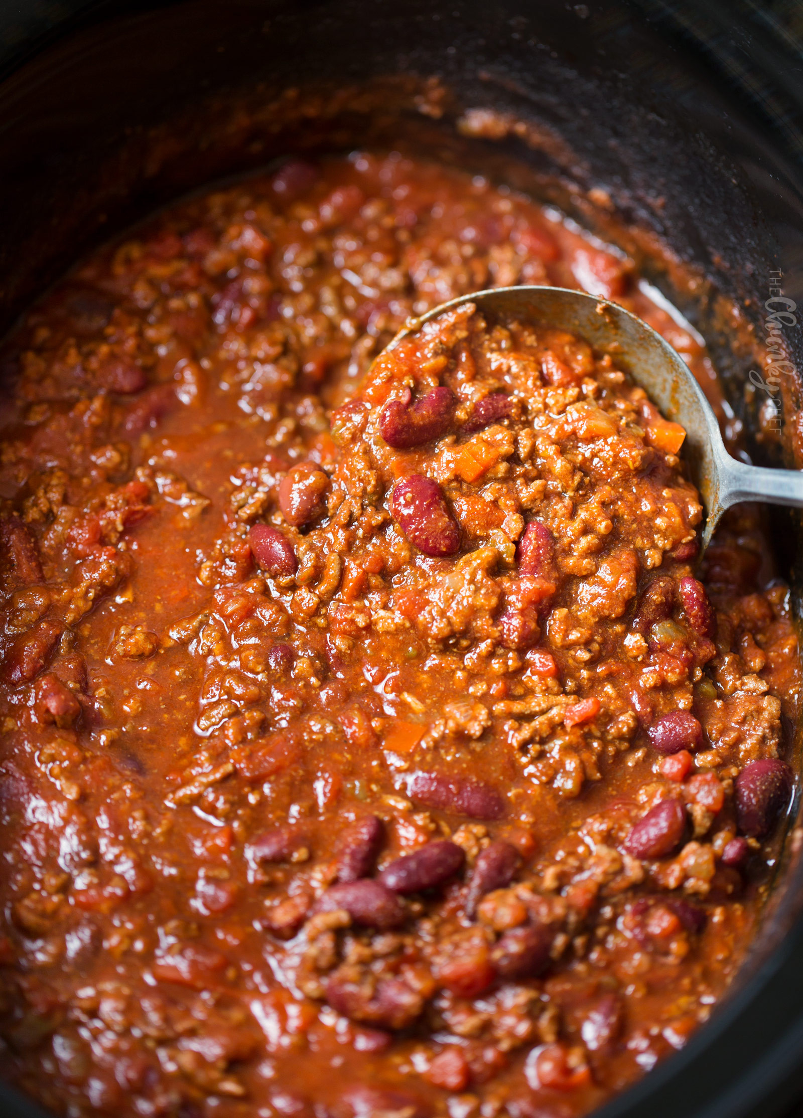 Beef Chili Recipe  Classic Beef and Bean Slow Cooker Chili The Chunky Chef