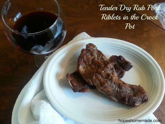 Beef Chuck Riblets  Tender yummy dry rub pork Riblets in the crock pot