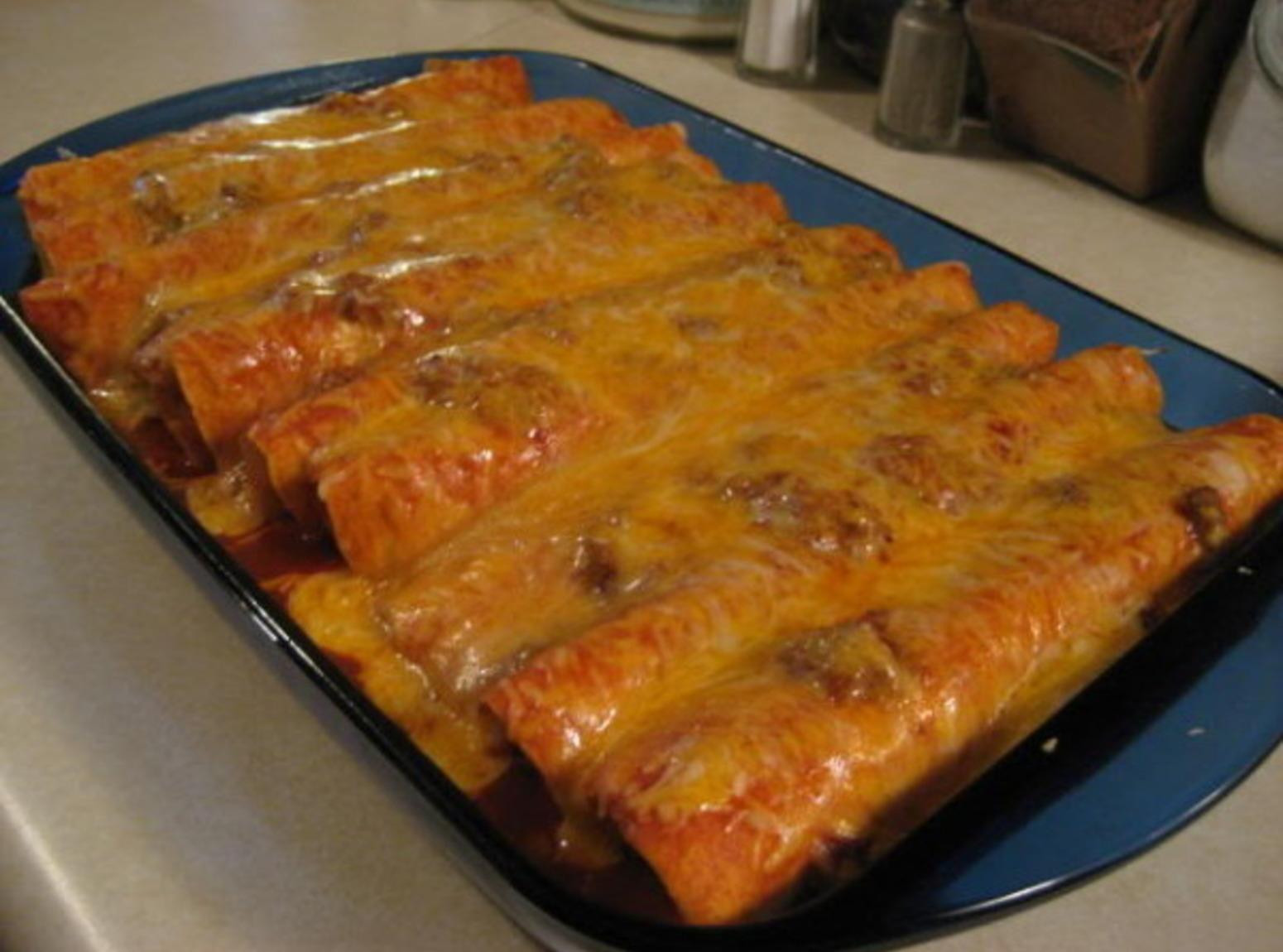 Beef Enchiladas With Corn Tortillas  Beef Enchiladas Recipe 6