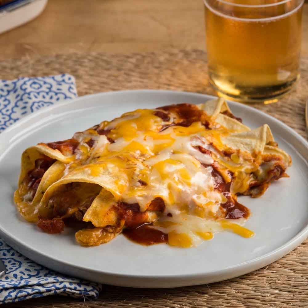 Beef Enchiladas With Corn Tortillas  Beef Enchiladas Rancheras