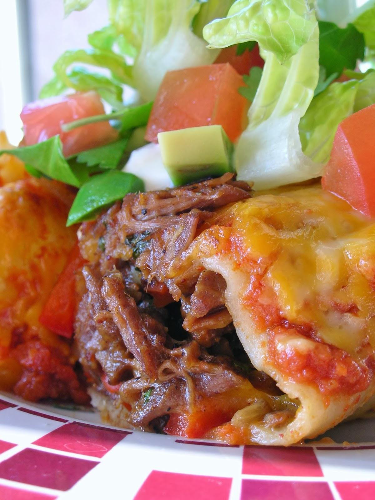 Beef Enchiladas With Corn Tortillas  Basil Braised Beef Enchiladas
