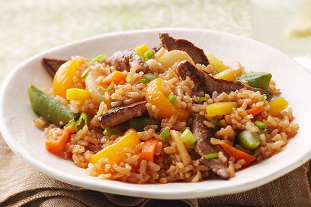 Beef Fried Rice  Beef Fried Rice Kraft Recipes