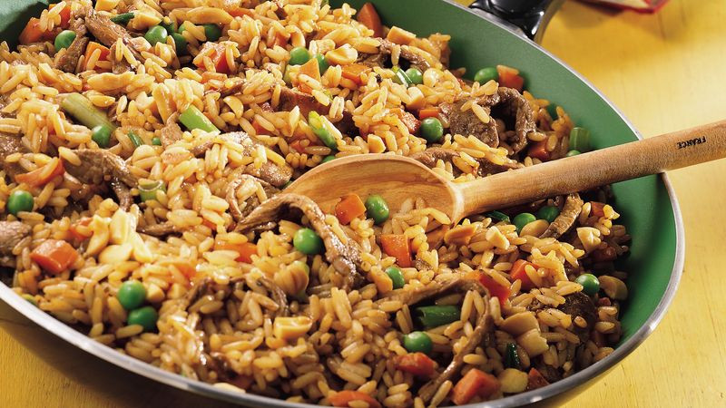 Beef Fried Rice  Szechuan Beef Fried Rice Recipe Pillsbury