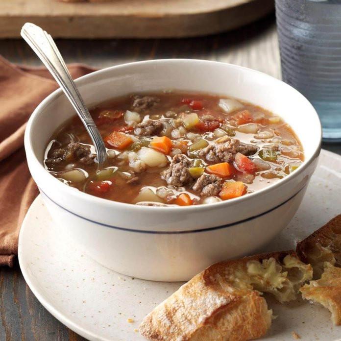 Beef Lentil Soup  Beef Barley Lentil Soup Recipe
