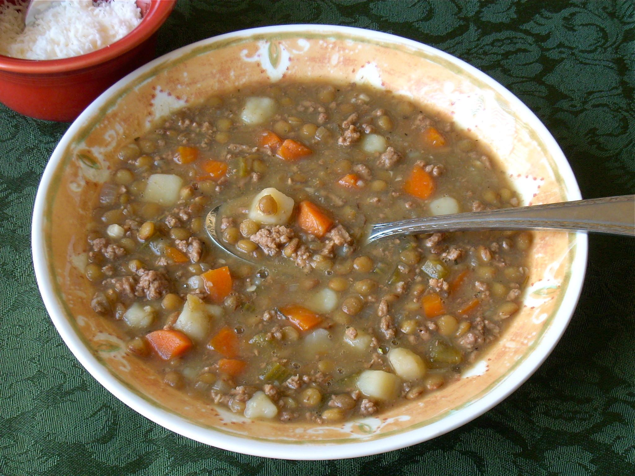 Beef Lentil Soup  Beef Lentil Soup Healthier Dishes