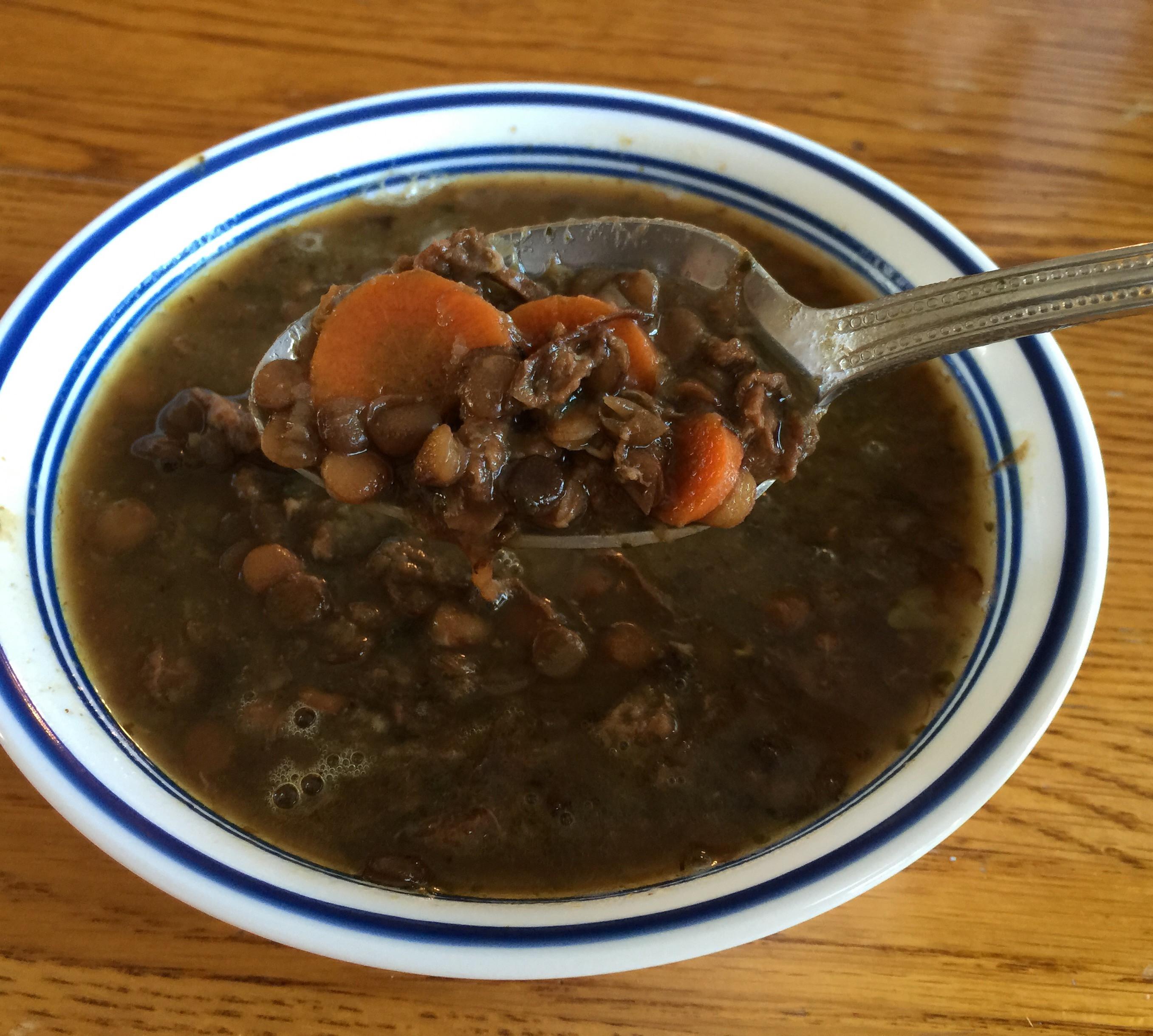 Beef Lentil Soup  Beef Lentil Soup – Real Food Nana