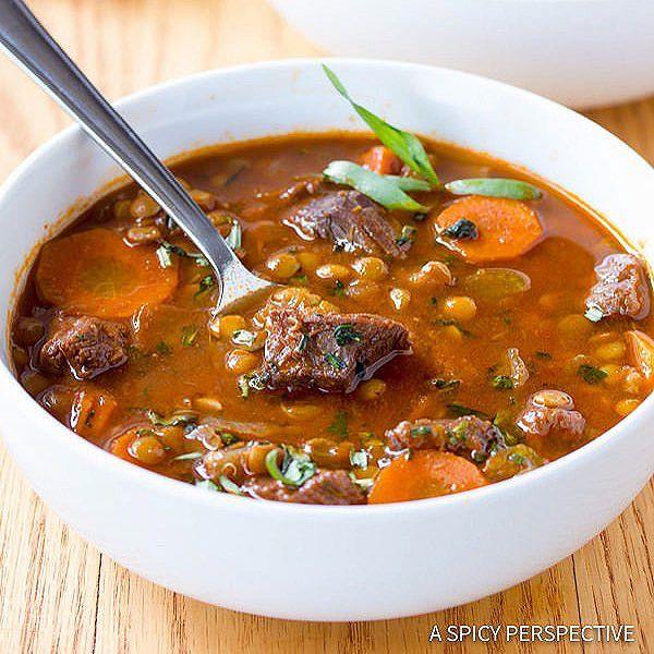 Beef Lentil Soup  Healthy Beef & Lentil Soup recipe