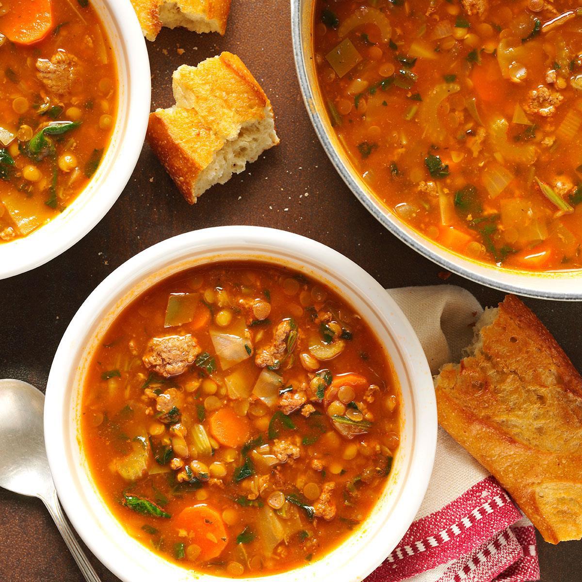 Beef Lentil Soup  Beef Lentil Soup Recipe
