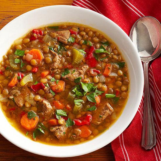 Beef Lentil Soup  ground beef lentil soup
