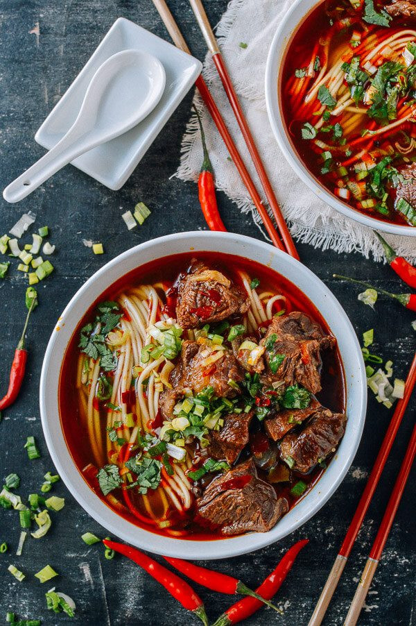 Beef Noodle Soup  Spicy Beef Noodle Soup The Woks of Life