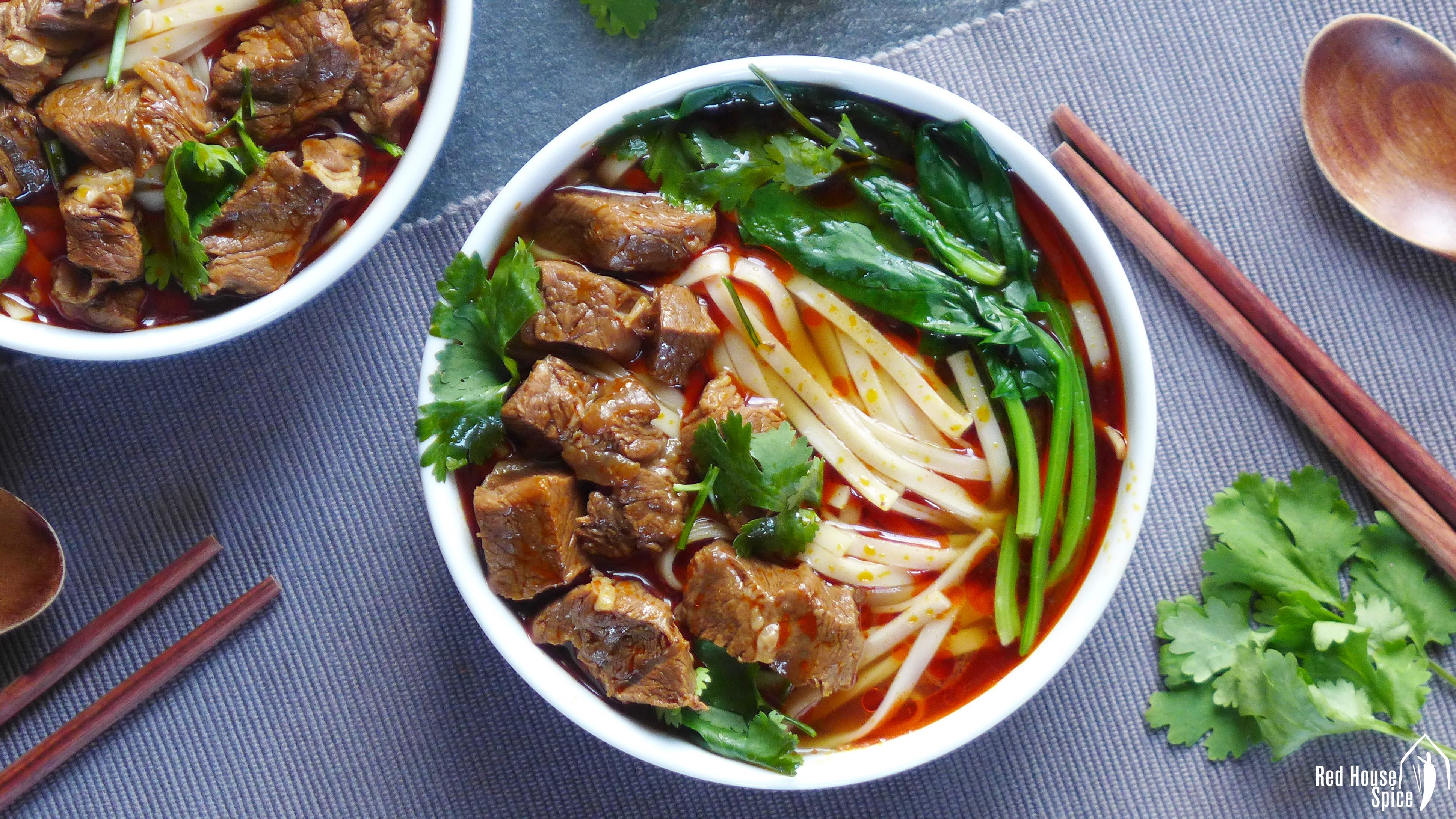 Beef Noodle Soup  Spicy beef noodle soup 香辣牛肉面 – Red House Spice