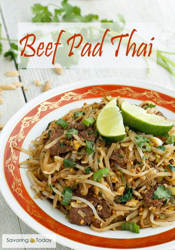 Beef Pad Thai  Excellent Beef Pad Thai Recipe Red Boat Fish Sauce