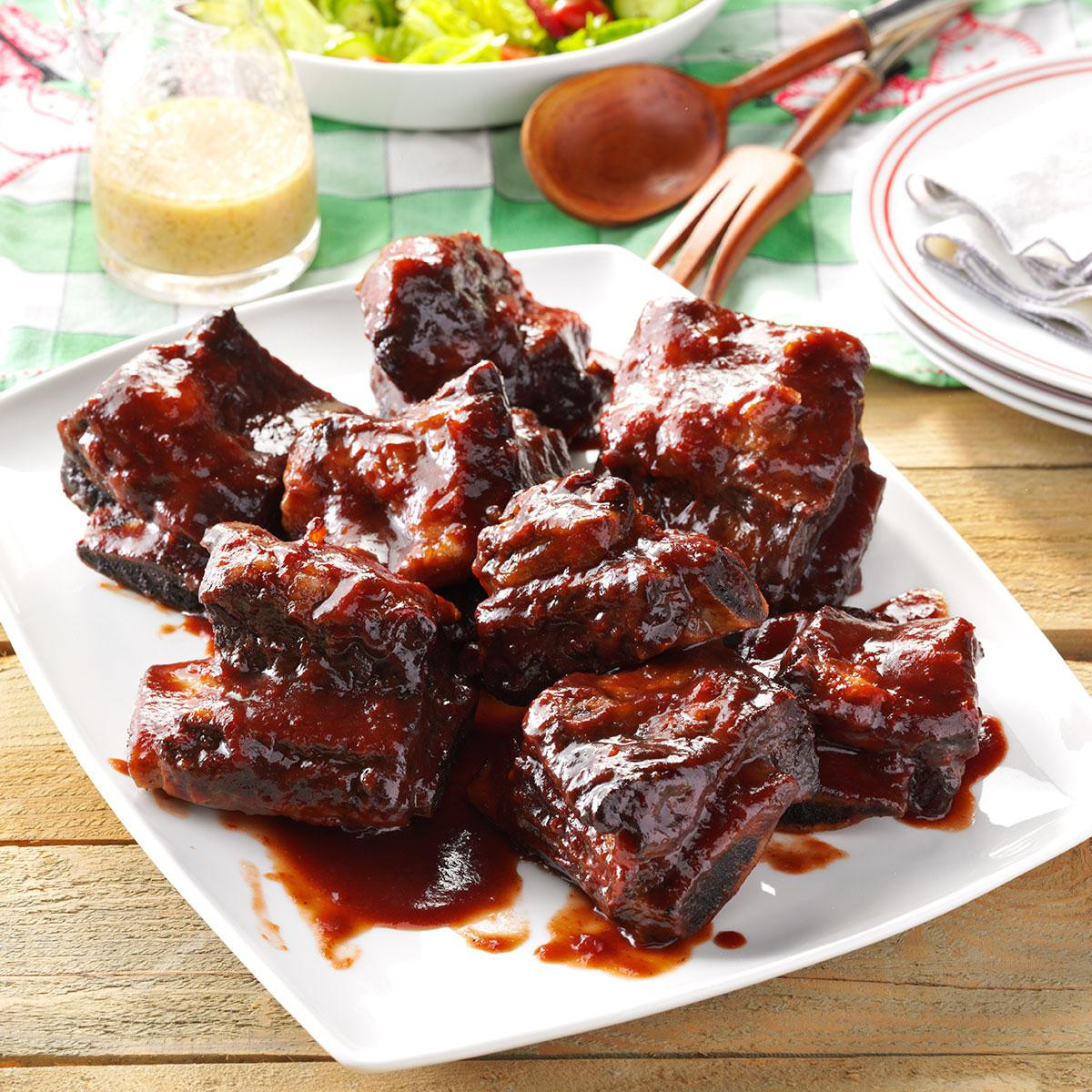 Beef Ribs Recipes  Barbecued Beef Ribs Recipe