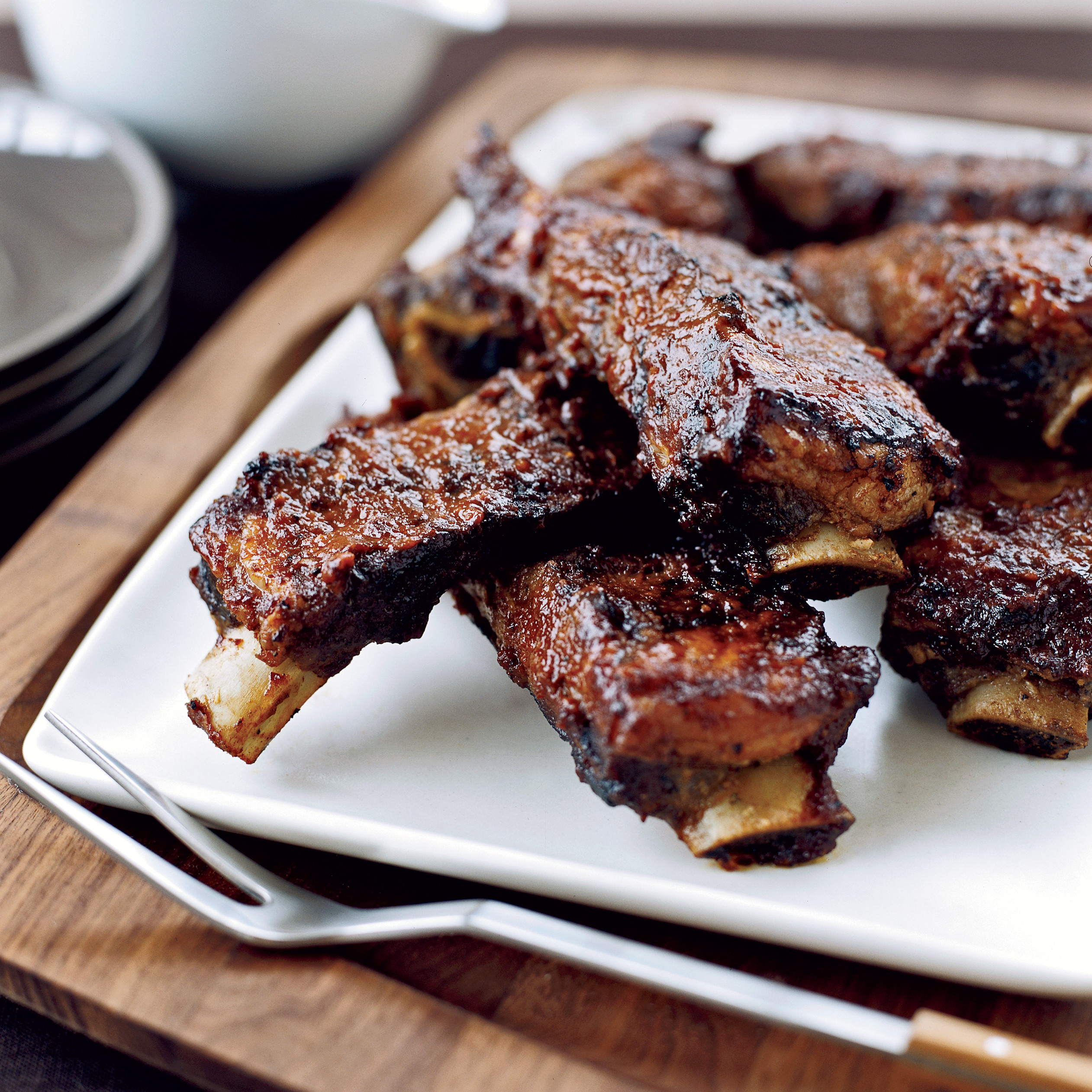 Beef Ribs Recipes  Sticky Barbecued Beef Ribs Recipe Tim Love