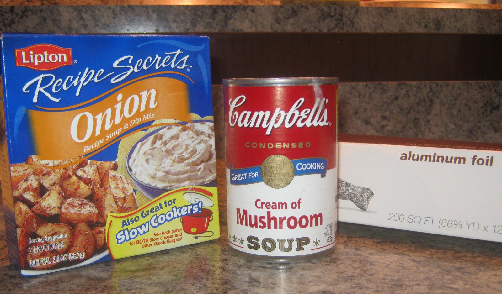 Beef Roast With Lipton Onion Soup Mix And Cream Of Mushroom Soup  beef roast with lipton onion soup mix and cream of