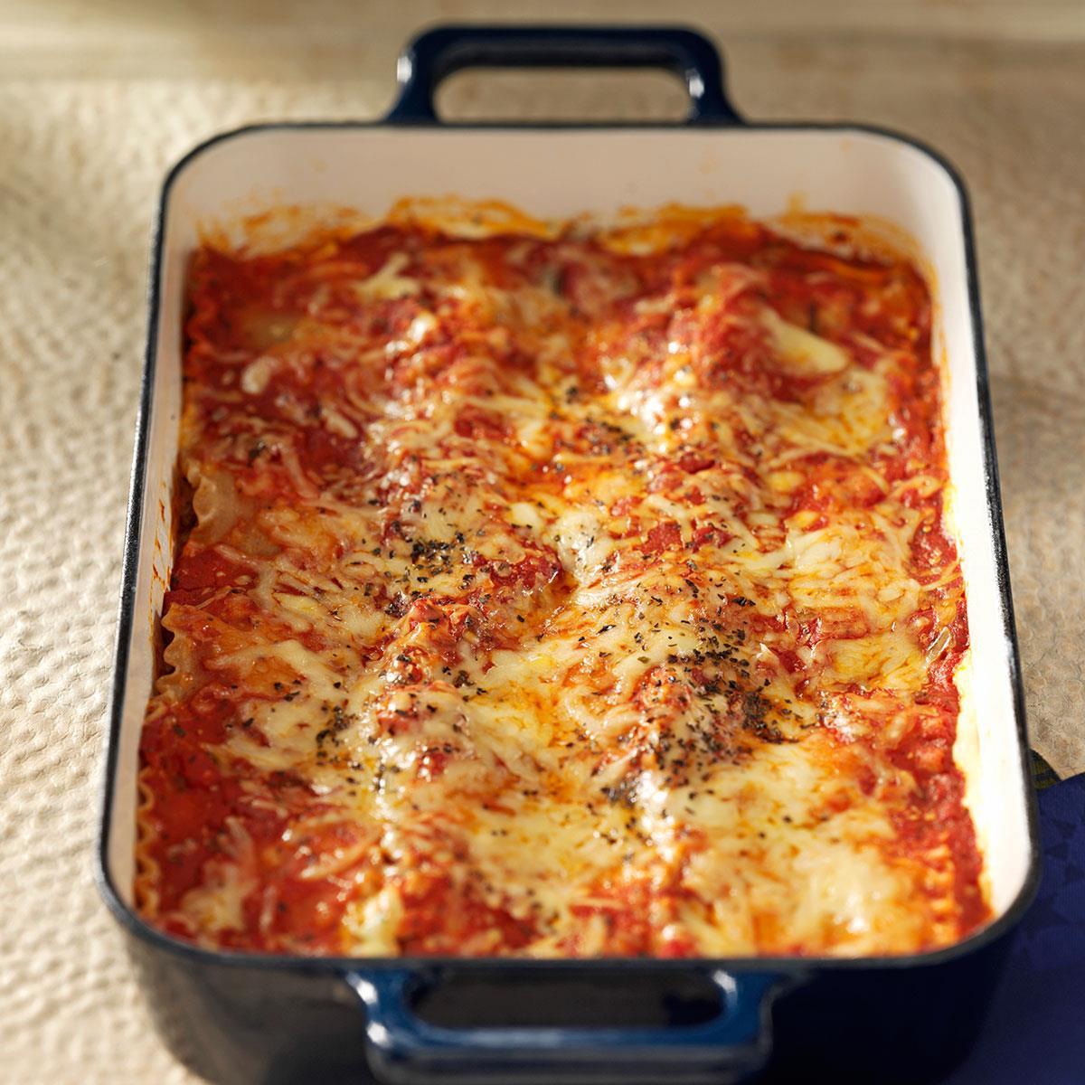 Beef Sausage Recipes  Makeover Beef & Sausage Lasagna Recipe