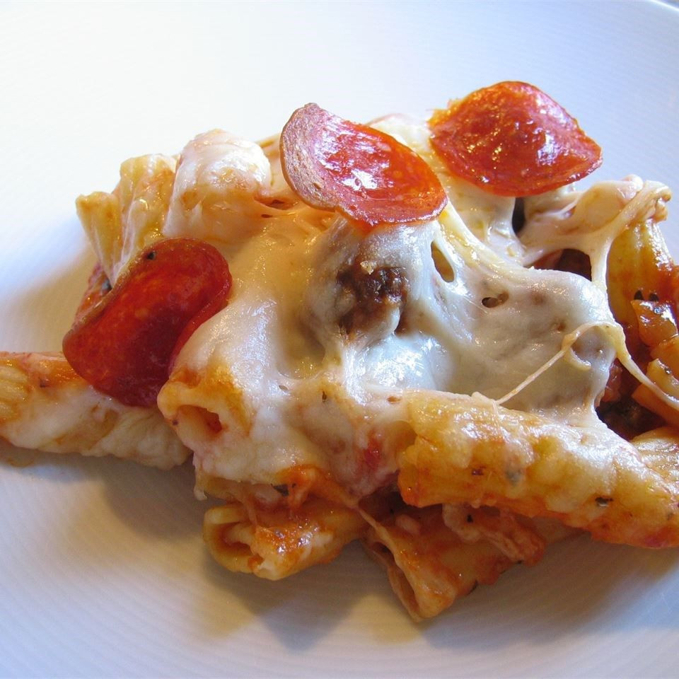 Beef Sausage Recipes  Pepperoni beef and sausage rigatoni bake recipe All