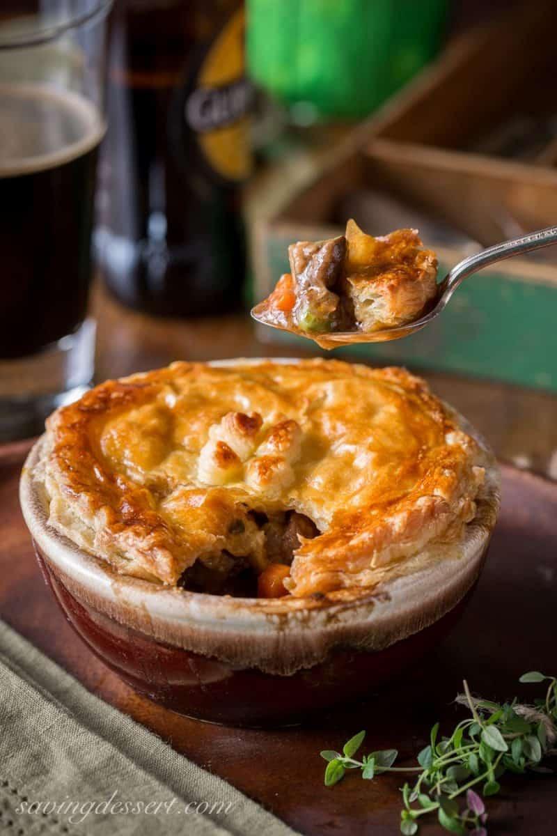 Beef Shepherd'S Pie  Beef and Stout Pies Classic Irish Pub Fare Saving Room