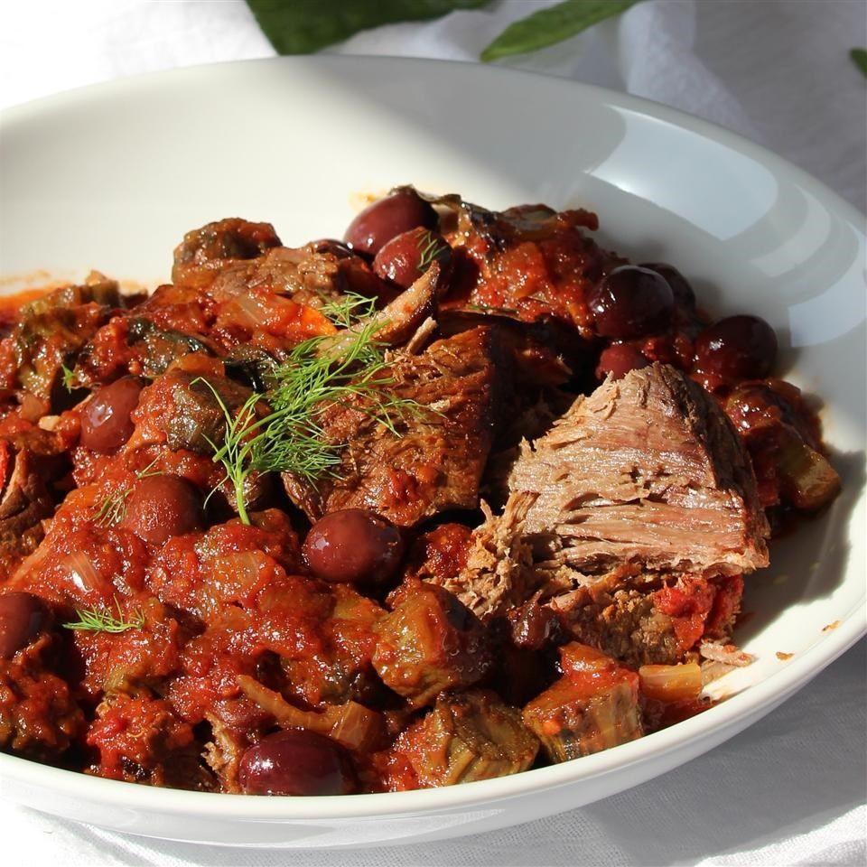Beef Stew Allrecipes  Slow cooker Mediterranean beef stew recipe All recipes UK