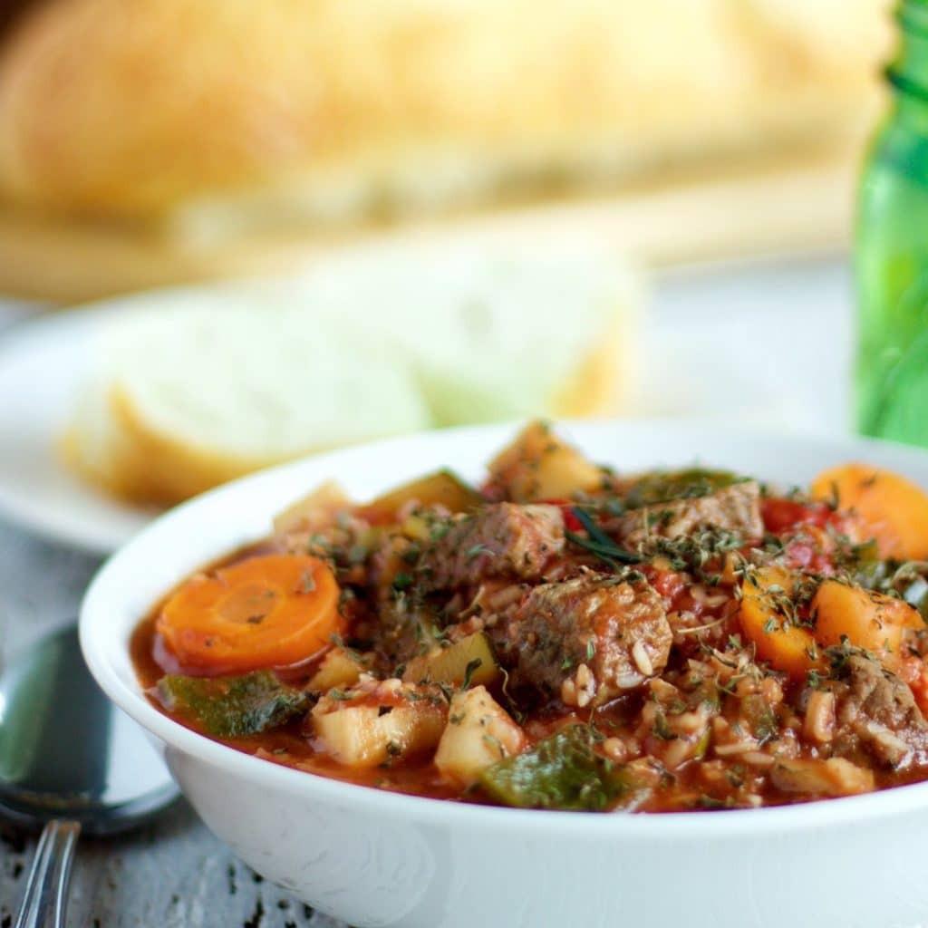 Beef Stew Crock Pot Recipes  Crock Pot Beef and Rice Stew