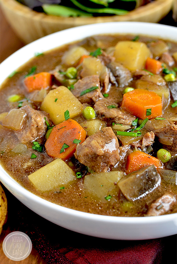 Beef Stew Crock Pot Recipes  Crock Pot Beef Stew Iowa Girl Eats