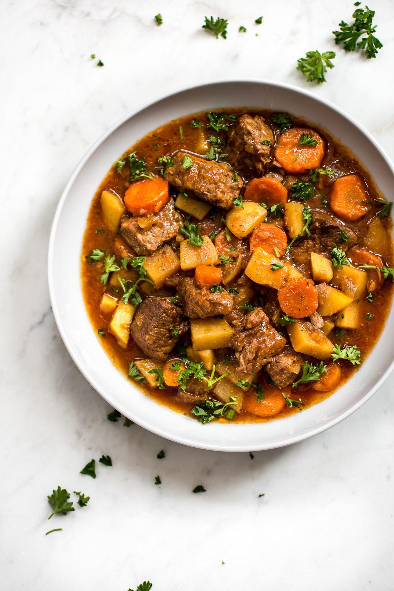 Beef Stew In Crockpot  Crockpot Beef Stew Recipe • Salt & Lavender