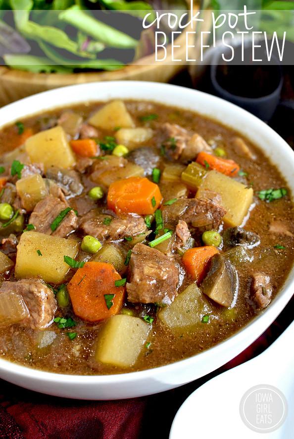 Beef Stew In Crockpot  Crock Pot Beef Stew Iowa Girl Eats
