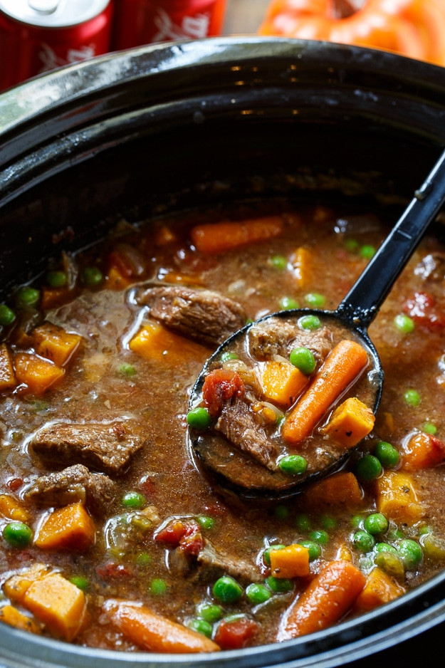 Beef Stew In Crockpot  Slow Cooker Beef Stew with Coke Spicy Southern Kitchen